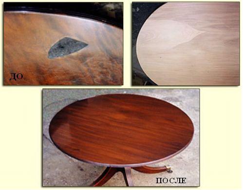 Реставрация деревянного стола своими руками